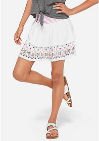 Justice Embroidered Tiered Skirt