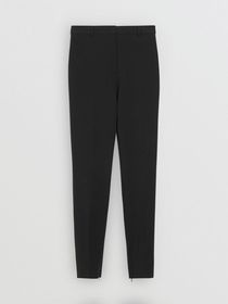 Burberry Stretch Jersey Tailored Trousers in Black