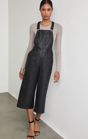 BCBG Jamee Faux-Leather Overalls