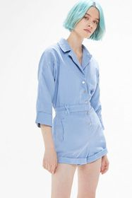 UO Irena Button-Front Coverall Romper