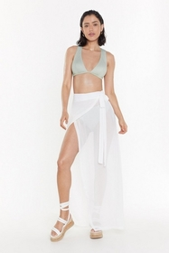Nasty Gal Womens Cream We'll Sea About That Chiffo