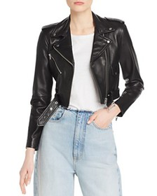 Veda - Baby Jane Smooth Leather Moto Jacket - 100%