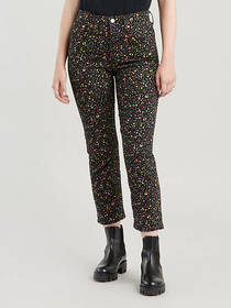 Levi's Floral Wedgie Fit Straight Jeans