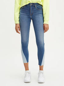 Levi's Pieced 721 High Rise Ankle Skinny Jeans