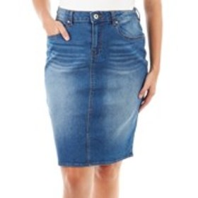 BACCINI Denim Pencil Skirt