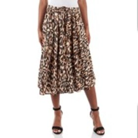 FLINT & MOSS Decorative Print A-Line Midi Skirt
