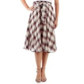 FLINT & MOSS Cotton Printed Tie-Waist Skirt