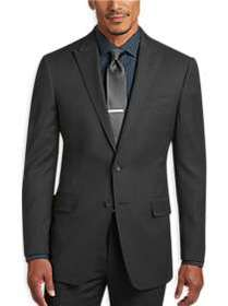 Awearness Kenneth Cole Charcoal Tic Slim Fit Suit