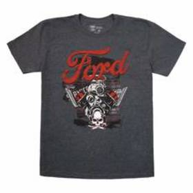 Young Mens Ford Motor Screened Short Sleeve Tee