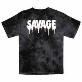 Young Mens Popular Poison Savage Screened Tie Dye