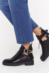 Nasty Gal Womens Black Kick 'Em Into Touch Faux Le