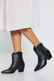 Nasty Gal Womens Black Ride Out the Leather Embroi