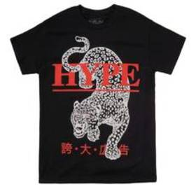 Young Mens Popular Poison Hype Leopard Graphic Tee