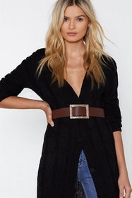 Nasty Gal Womens Brown Times Square Faux Leather B