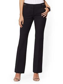 Horsebit-Accent Bootcut Pant - Modern - All-Season
