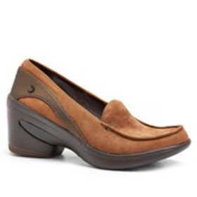 Womens Moc Toe Fabric Comfort Loafers