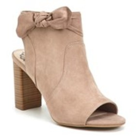 Womens Bow Accent Open Toe Heels