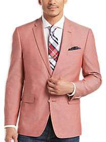 Tommy Hilfiger Red Chambray Slim Fit Sport Coat