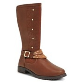 Girls Quilted Flower Riding Boots