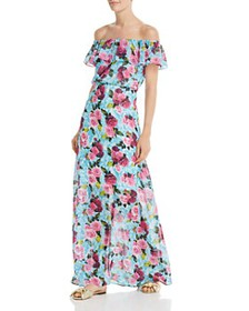 Betsey Johnson - Drowning Roses Off-the-Shoulder M
