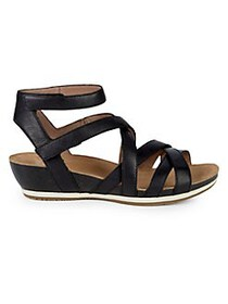 Dansko Veruca Leather Cutout Sandals BLACK