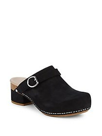Dansko Marty Leather Clog Mules BLACK