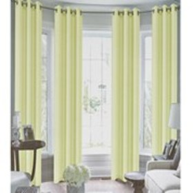 "Set of 4 Faux Silk Grommet Top Curtains - 38"" x 84"