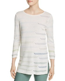 NIC and ZOE - Day Boat Embroidered Knit Top