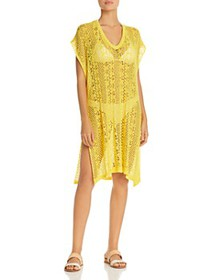 Echo - Pointelle Caftan Swim Cover-Up