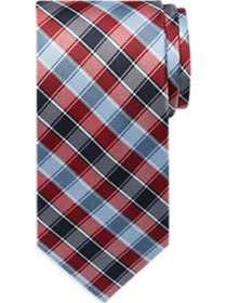 Tommy Hilfiger Red & Blue Check Narrow Tie