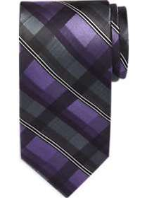 Awearness Kenneth Cole Purple & Gray Plaid Extra L