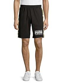 PUMA Camo Side-Striped Shorts PUMA BLACK