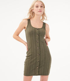 Aeropostale Seriously Soft Button-Front Bodycon Dr