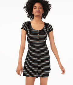 Aeropostale Seriously Soft Striped Scoop-Neck Skat