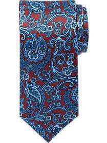 Burma Bibas Red Paisley Narrow Tie