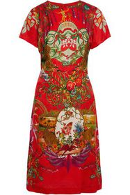 ETRO Printed floral-jacquard dress