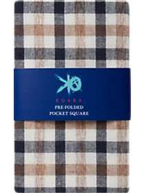 Egara Ecru Gingham Pre-Folded Pocket Square