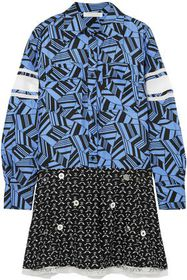 CHLOÉ Embellished printed silk crepe de chine mini