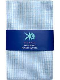 Egara Blue Woven Pocket Square
