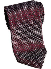 Awearness Kenneth Cole Burgundy Check Extra Long N