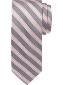 Awearness Kenneth Cole Pink & Gray Stripe Narrow T