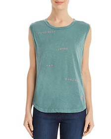 Sundry - Embroidered Muscle Tank
