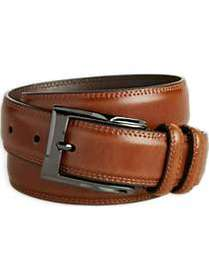 Men's Wearhouse Cognac Stitch Edge Leather Belt