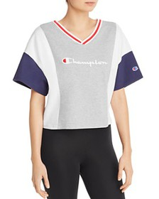 Champion - Color-Block Cropped Tee
