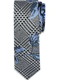 Paisley & Gray Blue Floral Skinny Tie