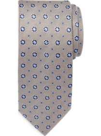 Joseph Abboud Taupe Floral Narrow Tie