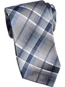 Awearness Kenneth Cole Blue Plaid Extra Long Narro