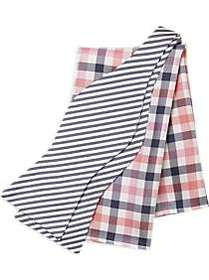 Tommy Hilfiger Navy Stripe with Pink check Bow Tie