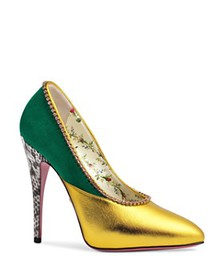 Gucci - Women's Peachy Embellished Leather & Suede