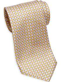 Tommy Hilfiger Yellow Check Narrow Extra Long Tie